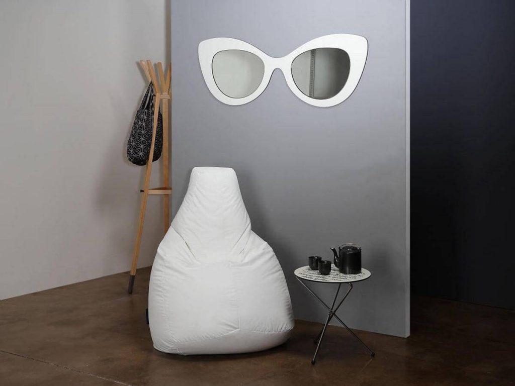 Lolita Hi-Tek Bianco beanbag by Creativando