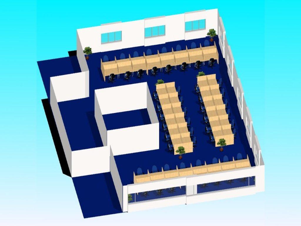 OAZA Call & Contact Center - 3D modelOAZA Call & Contact Center - 3D model