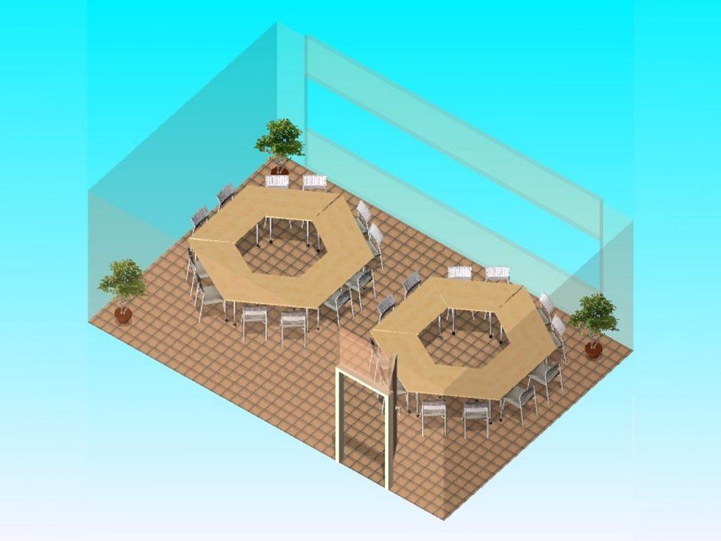 OAZA Call & Contact Center - 3D model predavaone